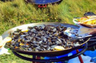 Pembrokeshire mussels cooking