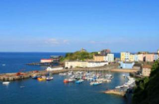 Tenby Harbour on sunny day