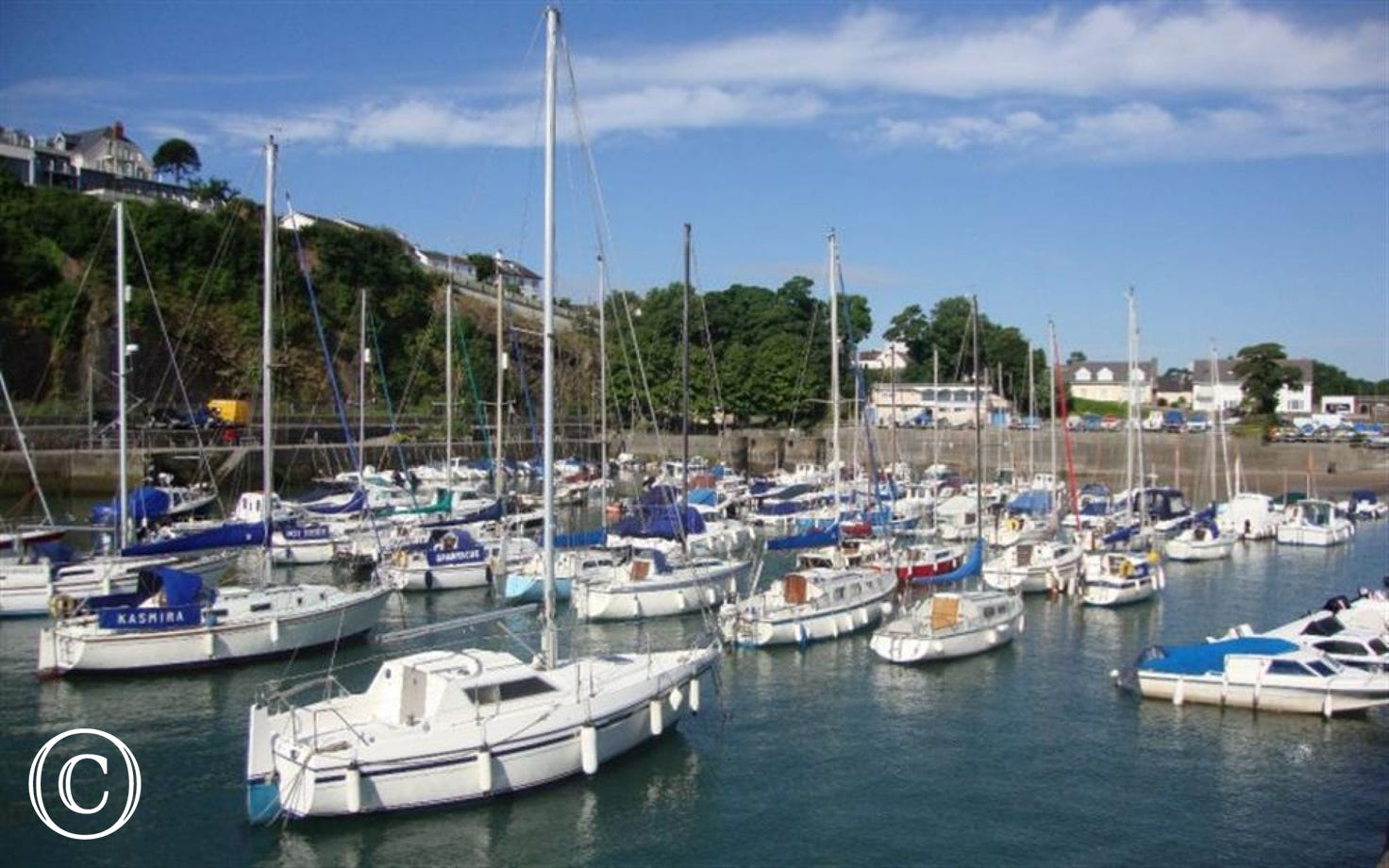Vibrant harbour in Saundersfoot just a few miles away