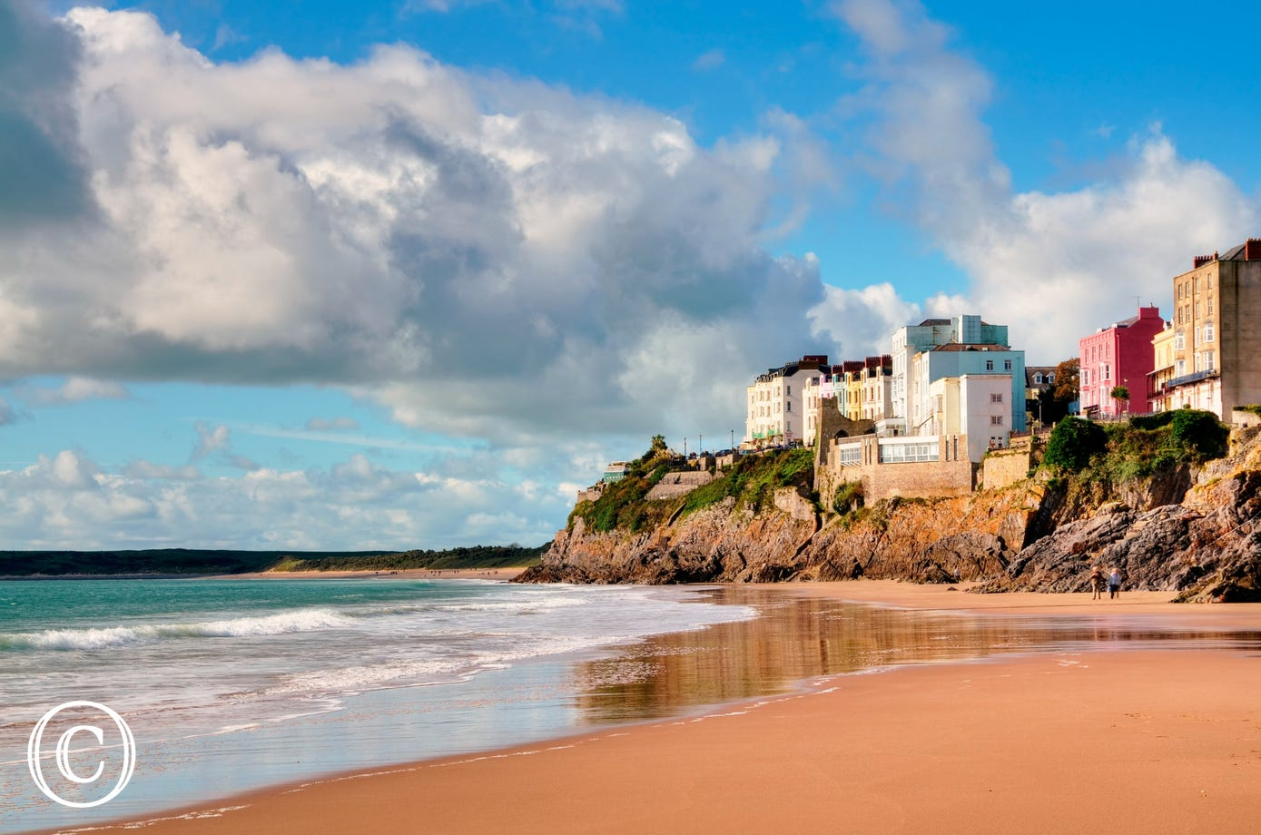 A photo of one of the beaches in Tenby