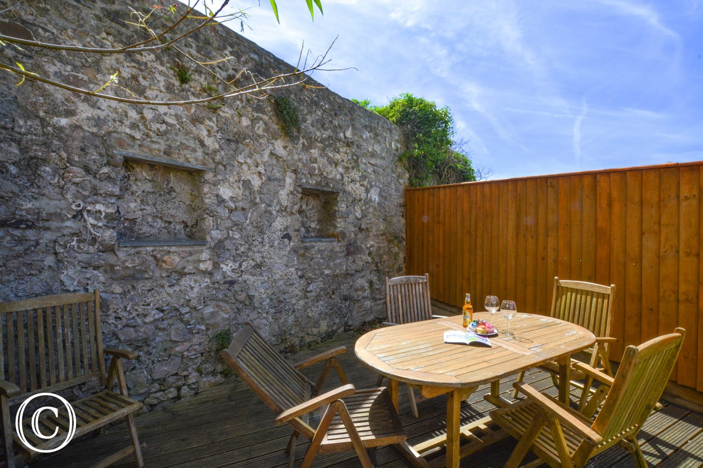 Outdoor space at this holiday apartment -Holiday Apartment in Tenby