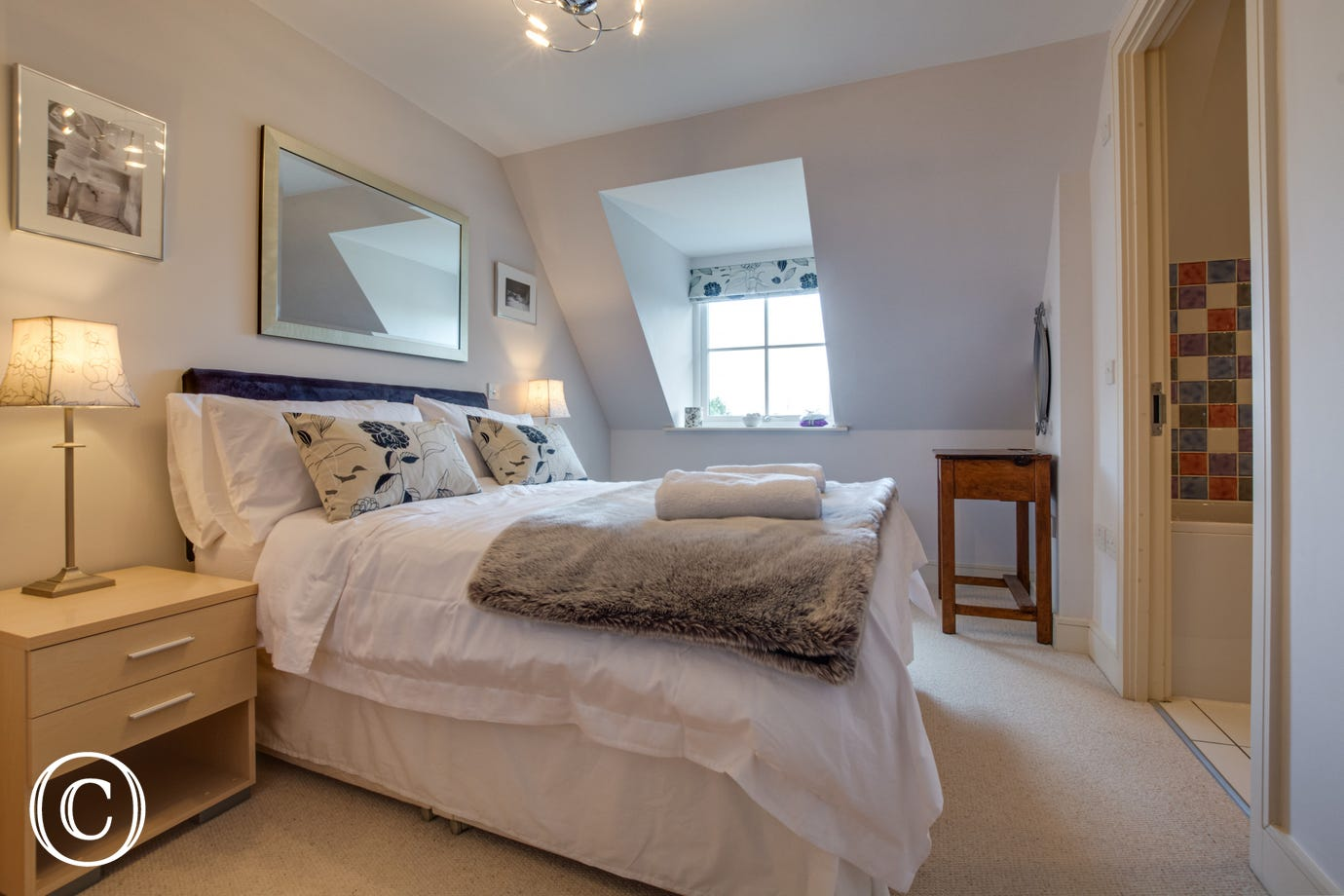 Delightful bedroom with all linen supplied leading to ensuite bathroom