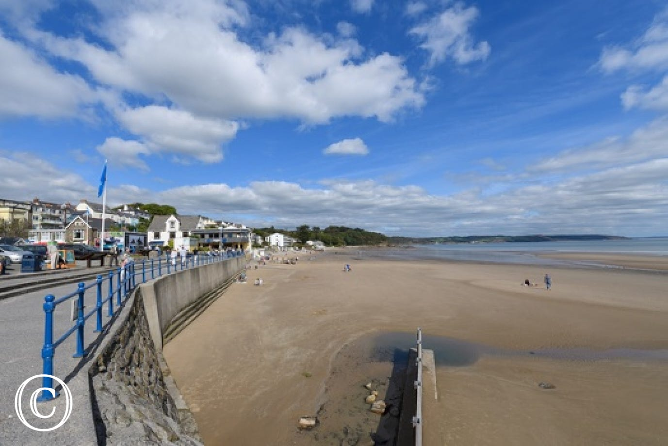 A view of the beautiful sandy beach of Saundersfoot