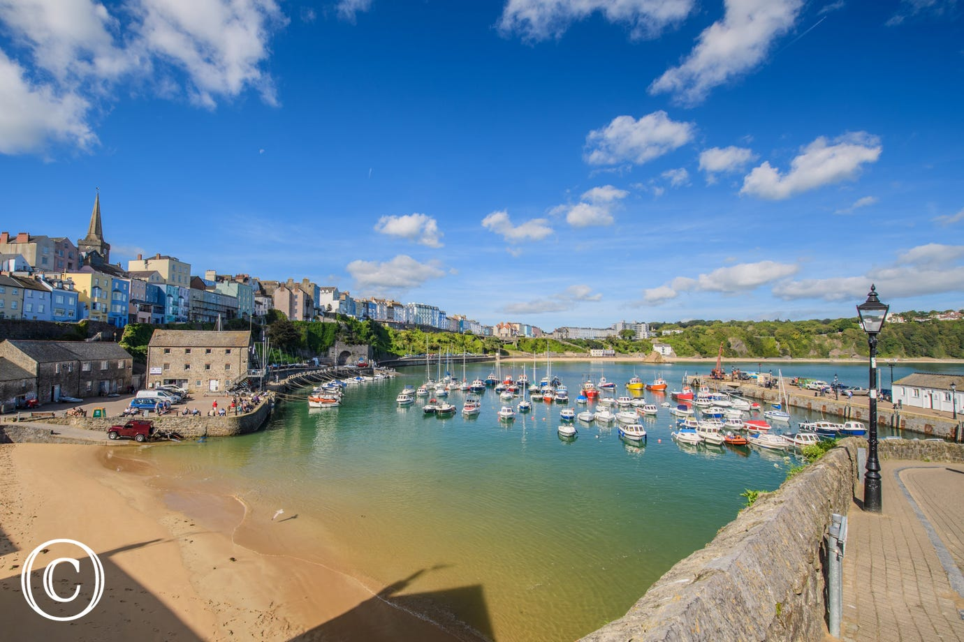 Tenby is a short car journey or take the coastal path.