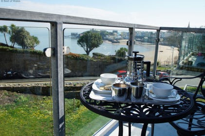 Stunning view of Tenby  from the Balcony
