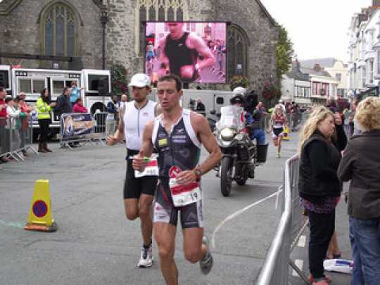 Competitors of the Ironman Wales challenge